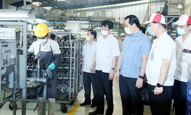 Công tác phòng, chống dịch bệnh Covid-19  tại các doanh nghiệp, công trường xây dựng trên địa bàn tỉnh Vĩnh Phúc